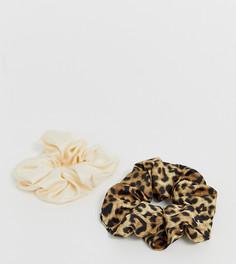 Набор резинок для волос (леопардовый/кремовый) Monki - 2 шт. - Коричневый