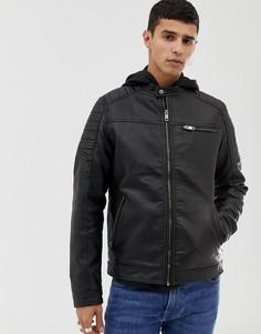 Куртка из искусственной кожи Jack & Jones Core - Черный