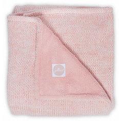 """Вязаный плед с мехом Jollein """"Melange knit"""" soft pink, 75х100 см"""
