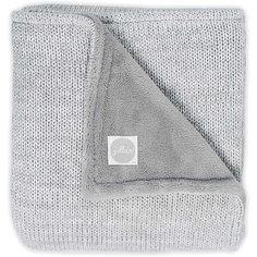 """Вязаный плед с мехом Jollein """"Melange knit"""" soft grey, 75х100 см"""