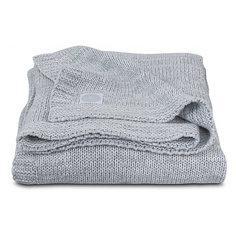 "Вязаный плед Jollein ""Melange knit"" soft grey, 75х100 см"