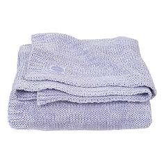 "Вязаный плед Jollein ""Melange knit"" soft lilac, 75x100 см"