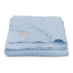 """Вязаный плед Jollein """"Fancy knit"""" baby blue, 75х100 см"""