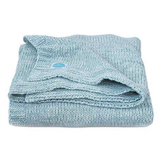 "Вязаный плед Jollein ""Melange knit"" soft green, 75х100 см"