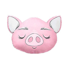 "Подушка Ligra ""Свинка"" ручной работы, 50х55 см, розовая Ligrasweethome"