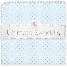 Фланелевая пеленка SwaddleDesigns Blue Dot, 110х110 см