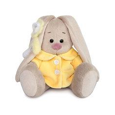 Мягкая игрушка Budi Basa Зайка Ми в желтом меховом пальто, 15 см