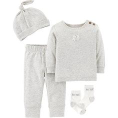 Копмлект: Футболка с динным рукавом, брюки, шапочка и носки Carters Carters
