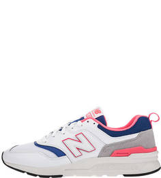 Белые кроссовки с яркой отделкой 997H New Balance