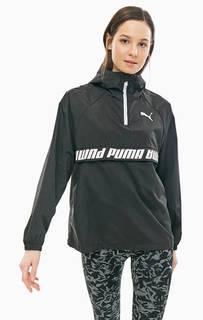 Черная ветровка-анорак с капюшоном Puma