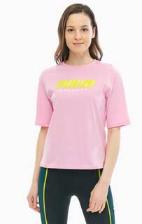 Хлопковая футболка с ярким принтом Puma