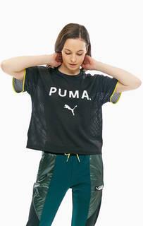 Футболка черного цвета с короткими рукавами Puma
