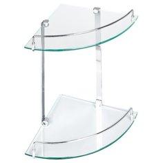 Полка Verran угловая стеклянная