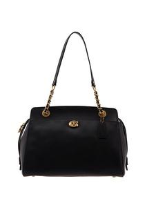 Черная кожаная сумка Parker Coach
