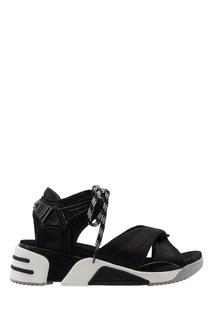 Черные текстильные сандалии Marc Jacobs