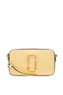 Золотистая сумка с логотипом Marc Jacobs