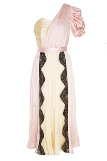 Розовое платье с плиссировкой Self Portrait