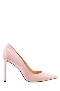 Розовые лакированные туфли Romy Jimmy Choo