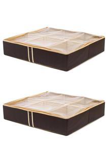 Два кофра для обуви, 54х51х24 HOMSU
