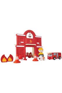 Набор Пожарная станция Plan Toys