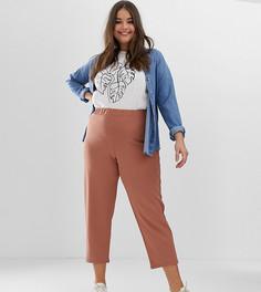Креповые зауженные брюки ASOS DESIGN Curve - Розовый