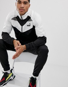 Черный спортивный костюм в стиле колор блок Puma - Черный
