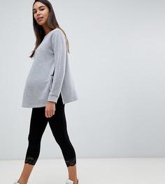 Леггинсы с кружевной кромкой ASOS DESIGN Maternity - Черный