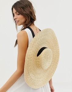 Соломенная шляпа канотье ASOS DESIGN - Коричневый