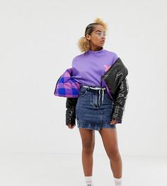 Джинсовая выбеленная мини-юбка COLLUSION Petite - Синий