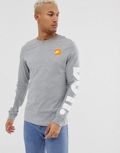 Серый лонгслив Nike - Серый