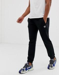 Черные джоггеры с вышитым логотипом adidas Originals - Черный