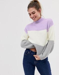 Джемпер сиреневого цвета с полосами разных цветов New Look - Мульти