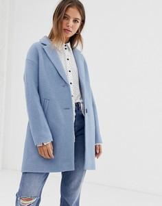 Светло-синее строгое пальто Pimkie - Синий