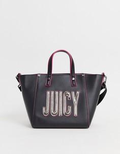Сумка-тоут с логотипом Juicy Couture - Серый