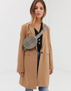 Светло-коричневое строгое пальто Pimkie - Коричневый