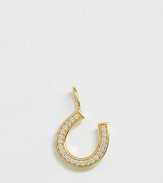 Позолоченная подвеска для ожерелья с отделкой паве Galleria Armadoro - Золотой