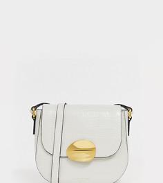 Белая кожаная сумка через плечо Kurt Geiger London - Белый