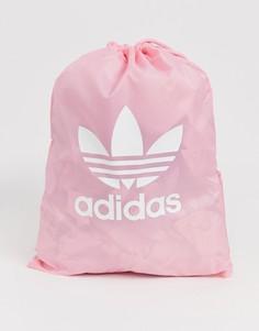 Розовый спортивный рюкзак с логотипом-трилистником adidas Originals - Розовый