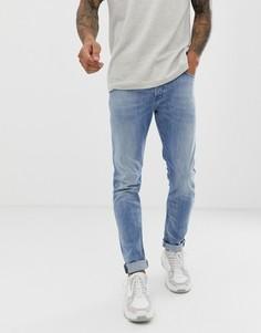 Светлые джинсы-морковки слим Diesel Tepphar 081AL - Синий