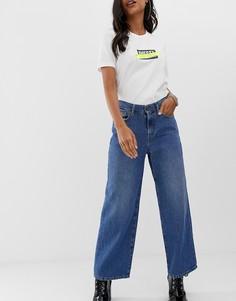 Выбеленные джинсы с широкими штанинами Diesel - Синий