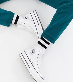 Белые высокие кеды на платформе Converse Chuck Taylor - Белый