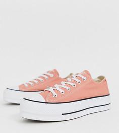 Кеды персикового цвета на платформе Converse Chuck Taylor Ox - Розовый