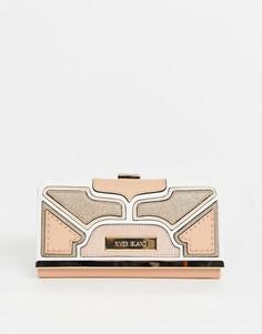 Розовый кошелек с золотистой фурнитурой River Island - Розовый