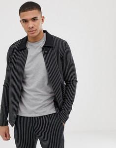 Куртка в тонкую полоску Jack & Jones Premium - Черный
