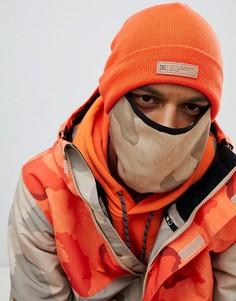 Оранжевая шапка-бини и горнолыжная маска DC Shoes Variable - Оранжевый