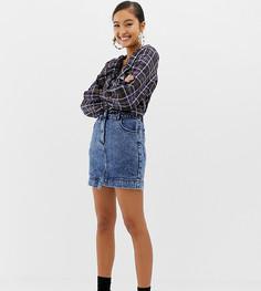 Выбеленная джинсовая мини-юбка COLLUSION - Синий