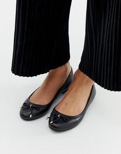 Черные кожаные балетки Aldo - Черный