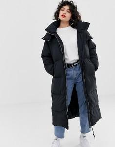Стеганое oversize-пальто Tommy Jeans - Черный