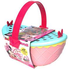 """Disney Игровой набор """"Минни: Набор для пикника"""" (корзинка 25 см, посуда, аксесс.) IMC Toys"""