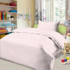 Детское постельное белье 1,5 сп. Letto, Звездочка, розовый